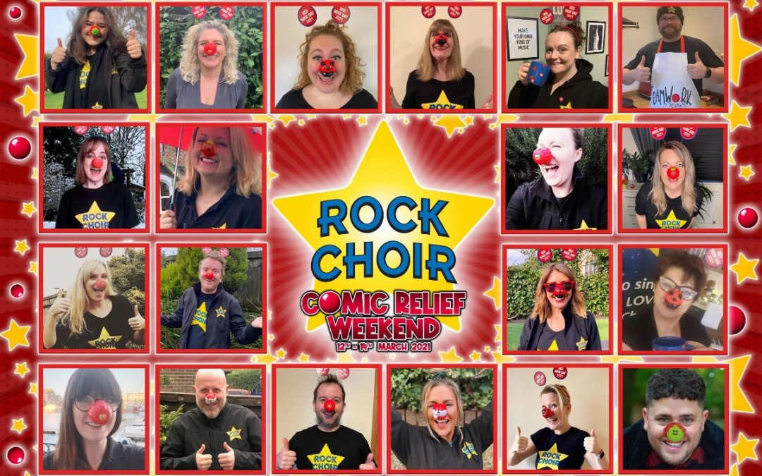 Rock Choir for Comic Relief and has raised £40,000…SO FAR!