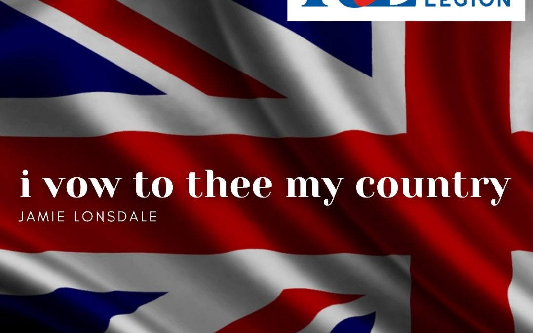 New Single – Jamie Lonsdale – I Vow to Thee My Country – Supporting Royal British Legion