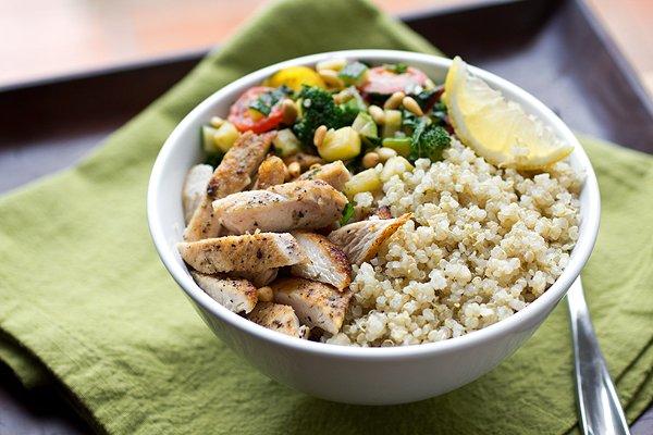 Quinoa with Roasted Quorn Chicken Fillets & Gremolata