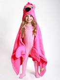 Description: Description: A child wearing a pink garment  Description automatically generated with low confidence